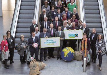 Auszeichnung zur Europaeischen Metropolregion Nuernberg als Fairtrade-Region