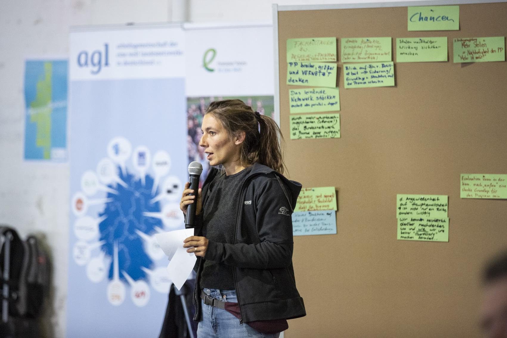 Eine Welt Promotorin auf der Bundeskonferenz 2018 in Berlin