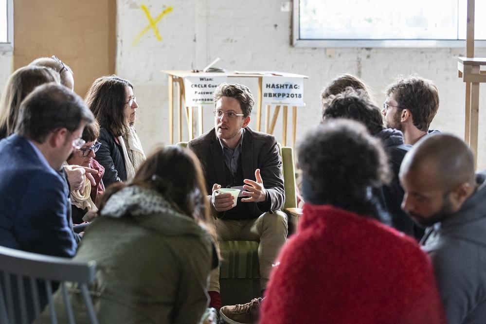 Axel Stirn und weitere Eine Welt Promotor*innen auf der Bundeskonferenz 2018 in Berlin